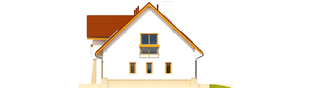 Projekt domu Jan G1 - elewacja prawa