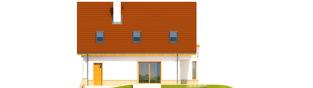 Projekt domu Jan G1 - elewacja tylna