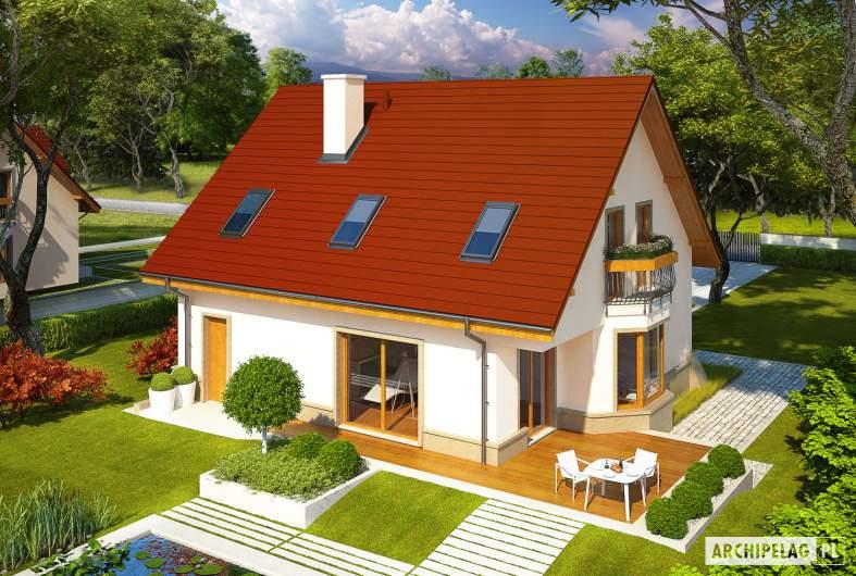 Projekt domu Jan G1 - widok z góry