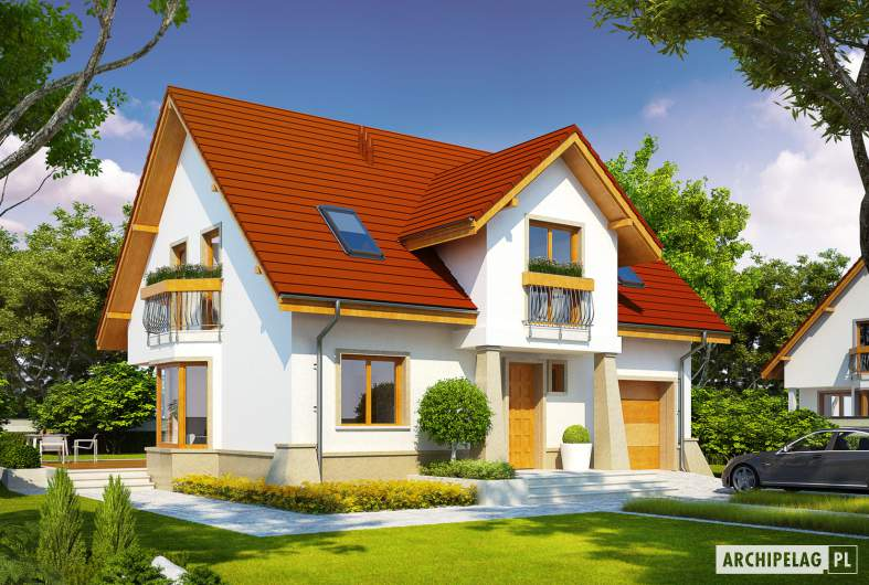 Projekt domu Jan G1 - wizualizacja frontowa
