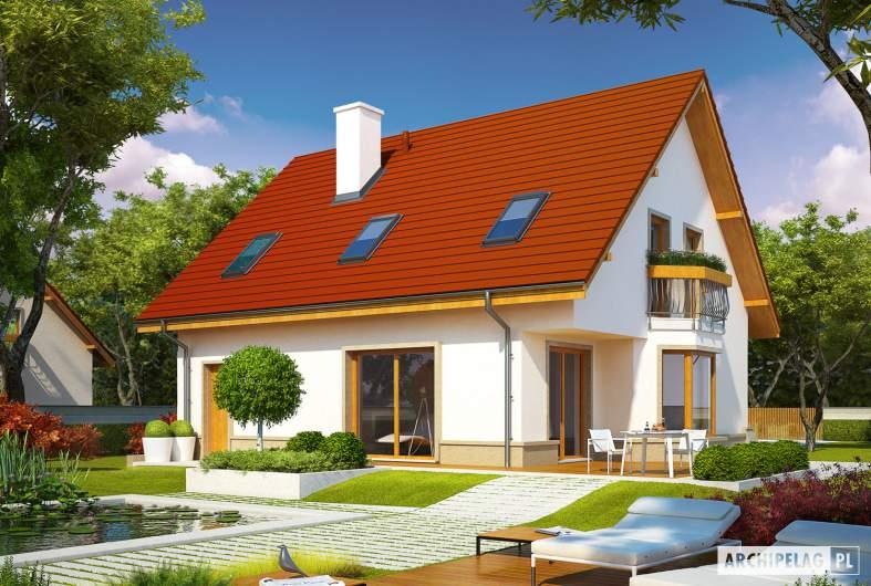 Projekt domu Jan G1 - wizualizacja ogrodowa