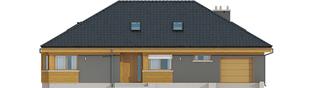 Projekt domu Gabriel G1 ENERGO - elewacja frontowa