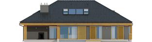 Projekt domu Gabriel G1 ENERGO - elewacja tylna