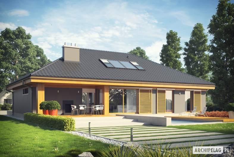 Projekt domu Gabriel G1 ENERGO - wizualizacja ogrodowa