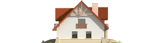 Projekt domu Jolka G1 - elewacja prawa