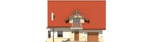 Projekt domu Jolka G1 - elewacja frontowa