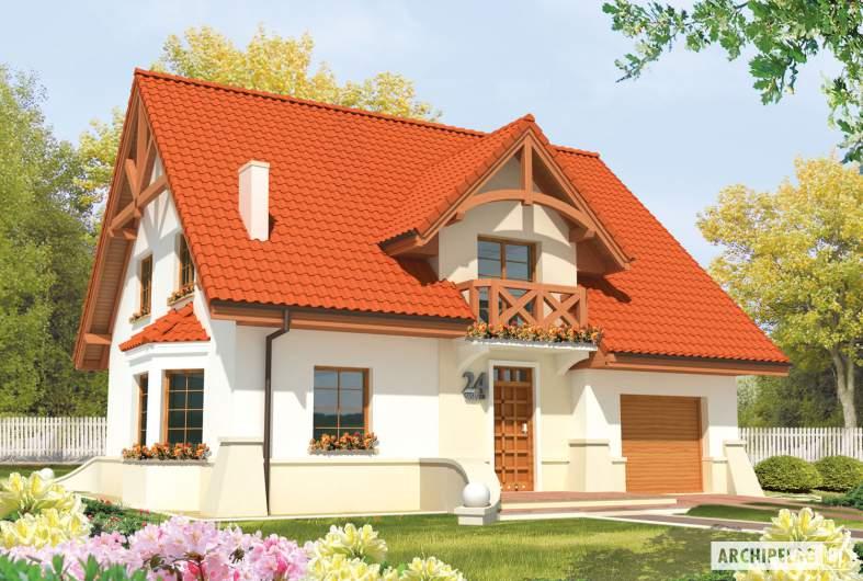 Projekt domu Jolka G1 - wizualizacja frontowa