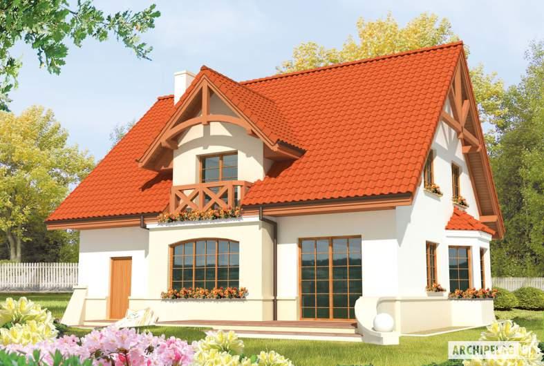 Projekt domu Jolka G1 - wizualizacja ogrodowa