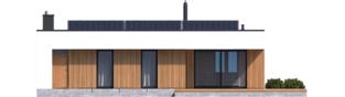 Projekt domu Mini 4 MODERN - elewacja tylna