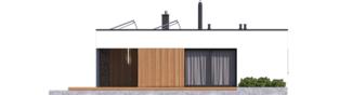 Projekt domu Mini 4 MODERN - elewacja lewa