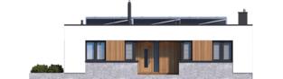 Projekt domu Mini 4 MODERN - elewacja frontowa