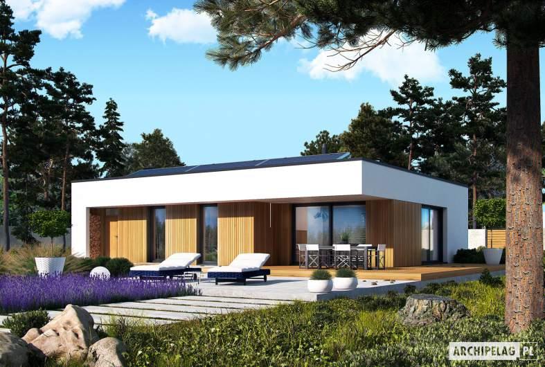 Projekt domu Mini 4 MODERN - wizualizacja ogrodowa
