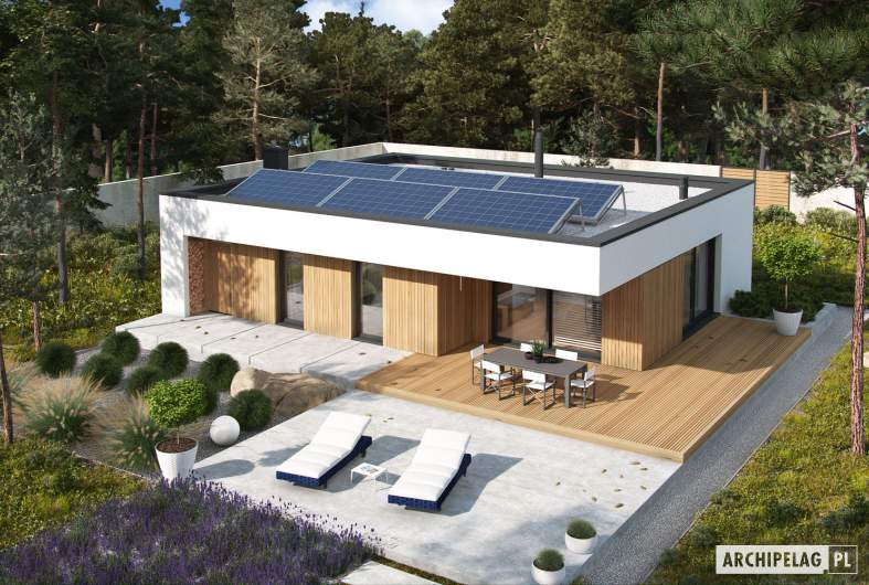 Projekt domu Mini 4 MODERN - widok z góry