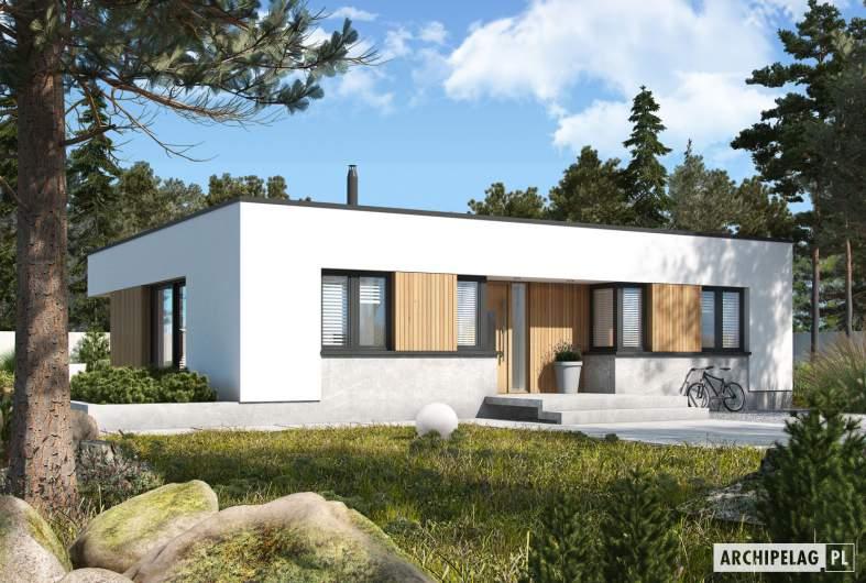 Projekt domu Mini 4 MODERN - wizualizacja frontowa