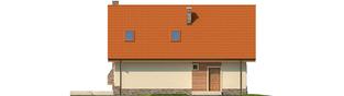Projekt domu Basia II G1 - elewacja tylna