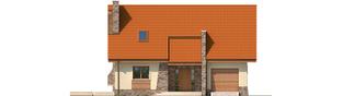 Projekt domu Basia II G1 - elewacja frontowa