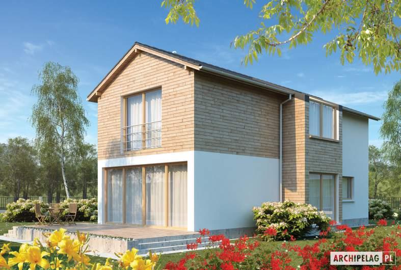 Projekt domu Feliks G2 - wizualizacja ogrodowa
