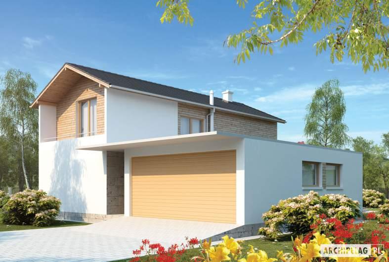 Projekt domu Feliks G2 - wizualizacja frontowa