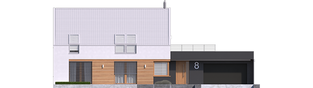 Projekt domu EX 18 G2 ENERGO PLUS - elewacja frontowa