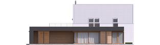 Projekt domu EX 18 G2 ENERGO PLUS - elewacja tylna