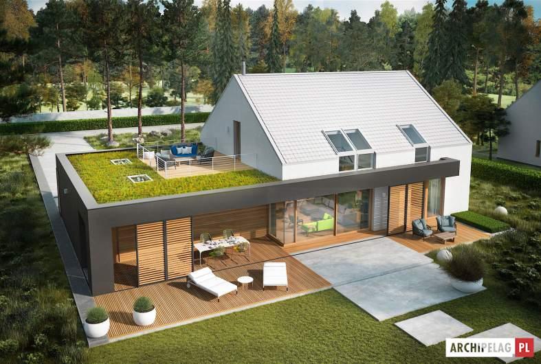Projekt domu EX 18 G2 ENERGO PLUS - widok z góry