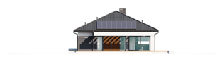 Projekt domu Alison III G2 - elewacja tylna