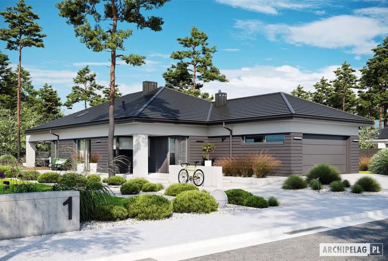 Projekt domu Alison III G2 - wizualizacja frontowa