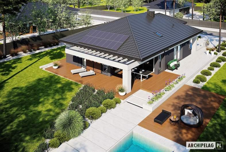 Projekt domu Alison III G2 - widok z góry