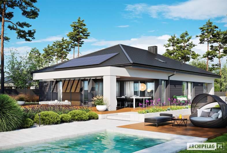 Projekt domu Alison III G2 - wizualizacja ogrodowa
