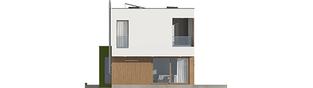 Projekt domu EX 17 W2 ENERGO PLUS  - elewacja tylna