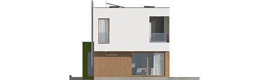 EX 17 S2 ENERGO A++ - Projekt domu EX 17 W2 - elewacja tylna