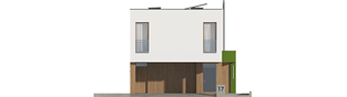 Projekt domu EX 17 W2 ENERGO PLUS  - elewacja frontowa