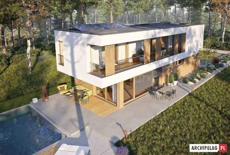 Projekt domu EX 17 W2 - widok z góry