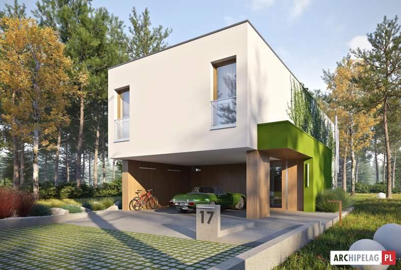 Projekt domu EX 17 W2 - wizualizacja frontowa