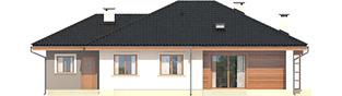 Projekt domu Franczi III G1 ECONOMIC (wersja A) - elewacja tylna