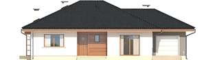 Projekt domu Franczi III G1 ECONOMIC (wersja A) - elewacja frontowa