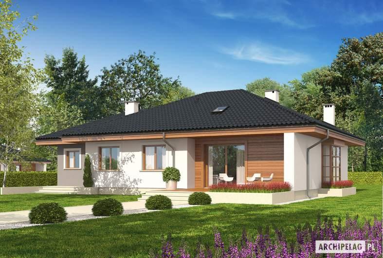 Projekt domu Franczi III G1 ECONOMIC (wersja A) - Projekty domów ARCHIPELAG - Franczi III G1 ECONOMIC (wersja A) - wizualizacja ogrodowa