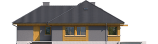 Projekt domu Anabela G1 MULTI-COMFORT - elewacja tylna
