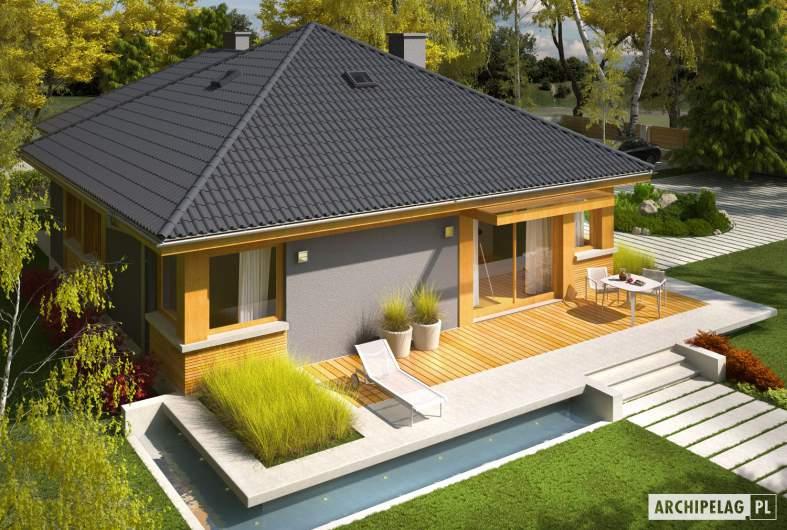 Projekt domu Anabela G1 MULTI-COMFORT - widok z góry