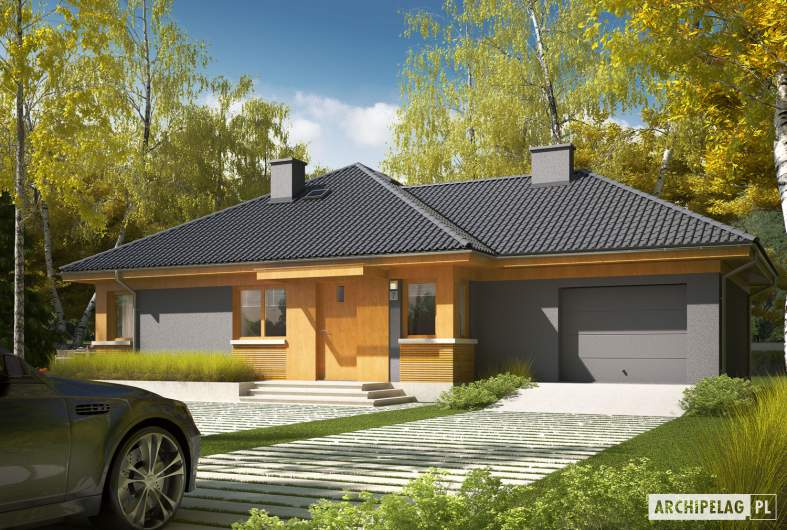 Projekt domu Anabela G1 MULTI-COMFORT - wizualizacja  frontowa