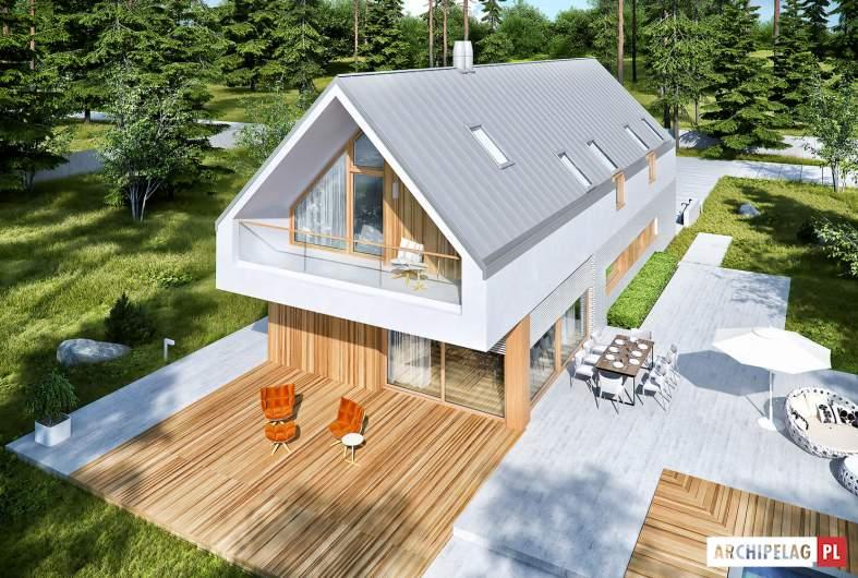 Projekt domu EX 20 G2 ENERGO PLUS - widok z góry