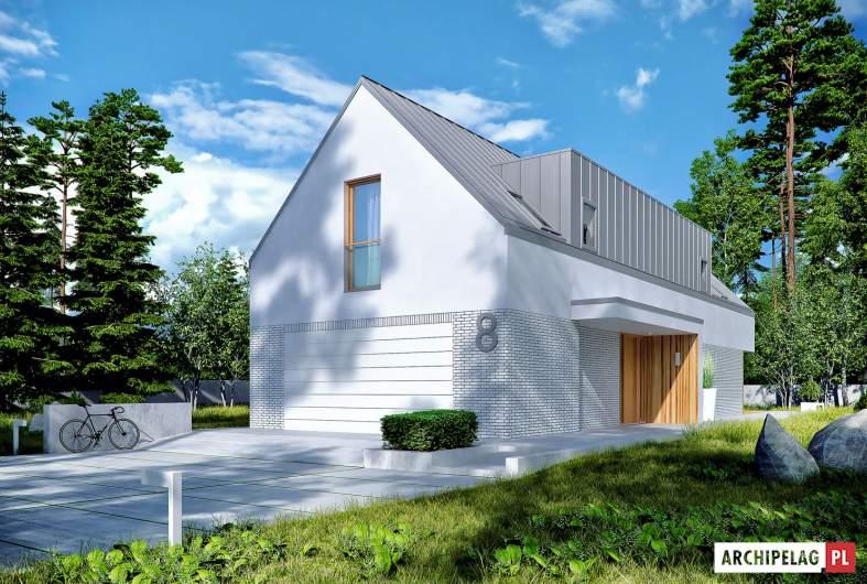 Projekt domu EX 20 G2 ENERGO PLUS - wizualizacja frontowa