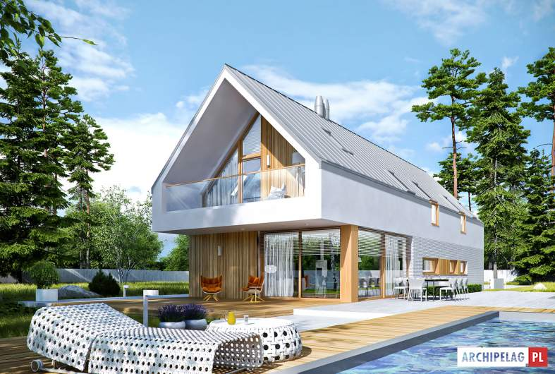 Projekt domu EX 20 G2 ENERGO PLUS - wizualizacja ogrodowa