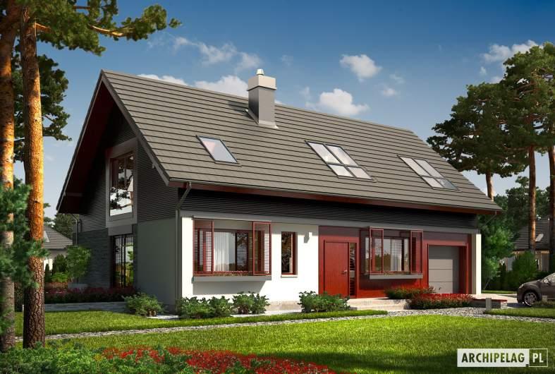 Projekt domu Benjamin G1 ENERGO - wizualizacja frontowa