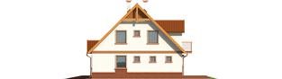 Projekt domu Ciri (z wiatą) - elewacja prawa