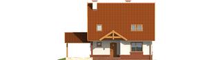 Projekt domu Ciri (z wiatą) - elewacja frontowa