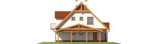 Projekt domu Ciri (z wiatą) - elewacja lewa