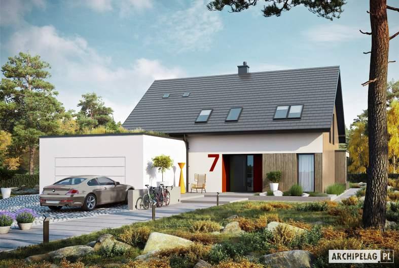 Projekt domu Malkolm G2 ENERGO PLUS - wizualizacja frontowa