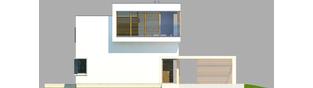 Projekt domu EX 10 (z wiatą) soft - elewacja frontowa