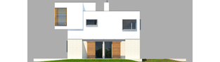 Projekt domu EX 10 (z wiatą) soft - elewacja prawa